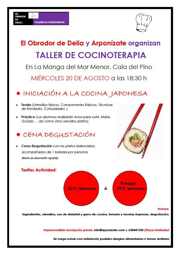 Taller cocinoterapia iniciaci n a la cocina japonesa for Utensilios cocina japonesa
