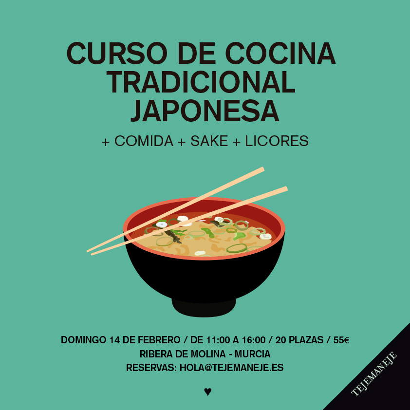 curso de cocina tradicional japonesa en tejemaneje que