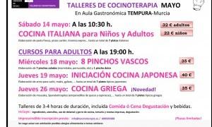 Talleres Cocinoterapia Mayo en Aula Gastronómica Tempura