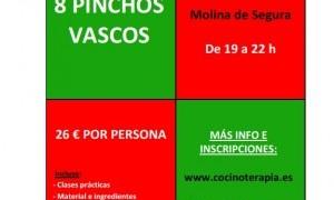 Taller de cocina: 8 Pinchos Vascos