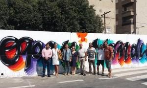 Nonduermas estrena un grafiti por el 25 aniversario del Open Nacional de la pedanía