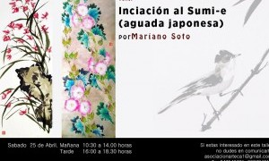 Taller de iniciación a la pintura Sumi e en Asociación Arteca
